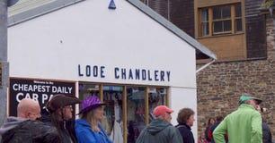 星期天2017年10月1日, Looe音乐节,康沃尔郡,英国 免版税库存图片