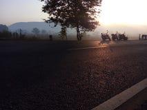 星期日早晨自行车乘驾 免版税库存照片