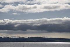 星期日的反映在一个大湖 免版税库存照片