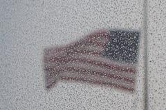 星条旗在风暴 库存图片