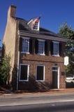 星条旗旗子房子,巴尔的摩, MD 库存照片