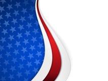 星条旗主题的背景 免版税库存图片