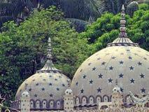 星清真寺,达卡,孟加拉国圆顶  免版税库存图片