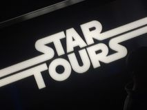 星游览吸引力商标迪斯尼乐园洛杉矶 图库摄影