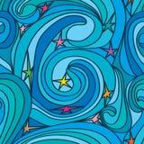 星漩涡线无缝的样式 免版税库存照片