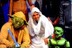 星球大战yoda万圣夜狂欢节 库存图片