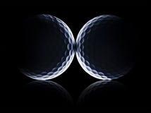星球高尔夫球 免版税库存照片