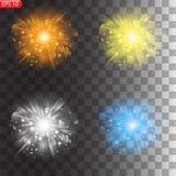星的光线影响 向量例证