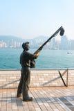 星的大道在九龙散步,香港,中国的 图库摄影