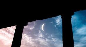 星的寺庙 免版税库存图片