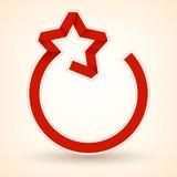 以星的形式红色丝带 向量 库存例证