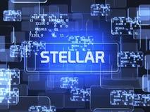 星的Cryptocurrency 免版税库存图片