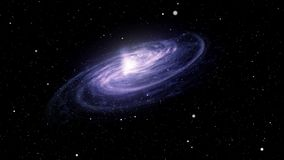 星系从与星的空间被看见 皇族释放例证