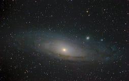星系仙女座真正的照片 免版税库存照片