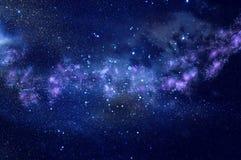 星系和星云 满天星斗的外层空间背景纹理 免版税库存照片