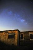 星系在晚上 库存图片