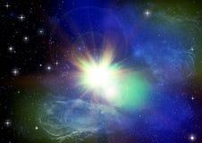 星系星形 免版税库存图片