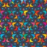 星线颜色对称无缝的样式 免版税库存图片