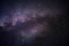 星美丽的射击在夜空的 向量例证