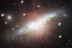 星美丽的星系和群空间夜 美国航空航天局装备的这个图象的元素 库存图片