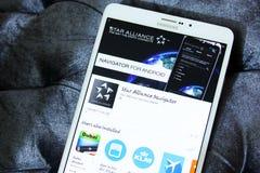 星联盟app商标 图库摄影