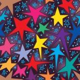星自由凹道无缝的样式 免版税库存图片