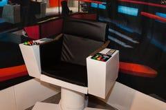星舰奇航记在Cartoomics的命令椅子2014年 免版税图库摄影
