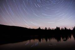 星落后Sprague湖 免版税库存图片
