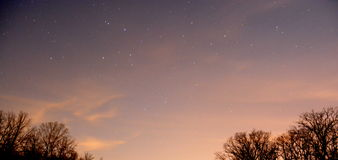 星被填装的天空 图库摄影