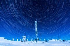 星足迹在冬天 库存照片