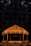 星足迹在晚上在宰海卜埃及 免版税库存照片