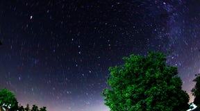 星足迹天空 库存图片