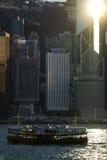 星轮渡横穿香港港口 库存图片