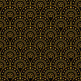 星门金子闪烁半圈无缝的样式 免版税图库摄影