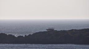 星际大战在Breasty海湾的电影布景在马林头, Co Donegal,红外线 库存图片