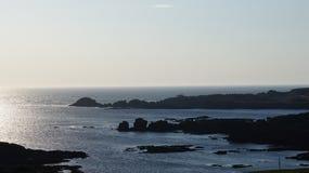 星际大战在Breasty海湾的电影布景在马林头, Co Donegal,红外线 免版税图库摄影