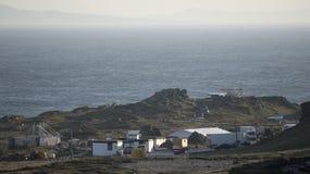 星际大战在Breasty海湾的电影布景在马林头, Co Donegal,红外线 免版税库存图片