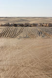 星际大战在Nefta突尼斯附近的风景Ong Jemel 免版税库存照片