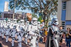 星际大战迪斯尼` s好莱坞演播室的突击队员 免版税图库摄影