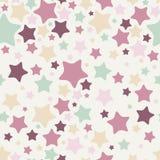 星,无缝的样式 免版税图库摄影