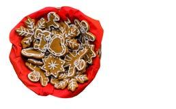 星,雪花,天使-圣诞节姜饼曲奇饼 库存照片