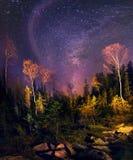 星系和秋天 免版税库存照片