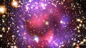 星系&星在空间(深刻的领域视图) 皇族释放例证