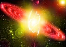 星系样式墙纸背景 库存图片