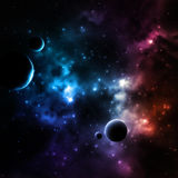 星系背景 向量例证