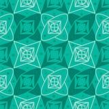 星绿色无缝的样式 免版税库存照片
