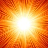 星破裂了红色和黄色火。EPS 8 库存照片