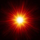 星破裂了红色和黄色火。EPS 10 免版税库存照片