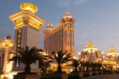 星系赌博娱乐场在澳门 免版税库存照片