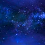 星系,摘要蓝色背景 图库摄影
